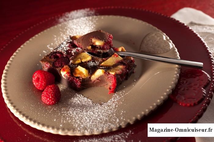 Recette de clafoutis chocolat framboise