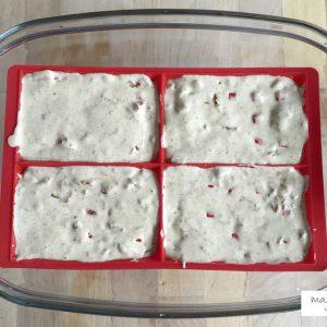 La préparation des gaufres avant cuisson.
