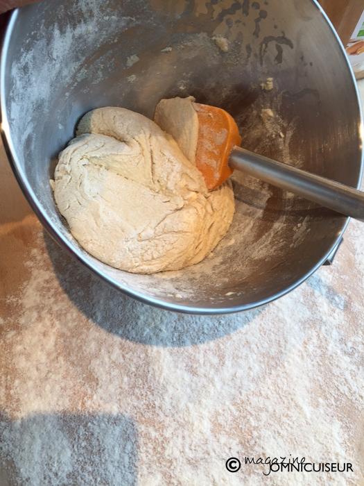 Préparation de la pâte.