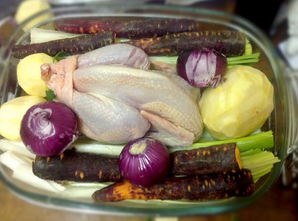 La poule au pot, avant cuisson