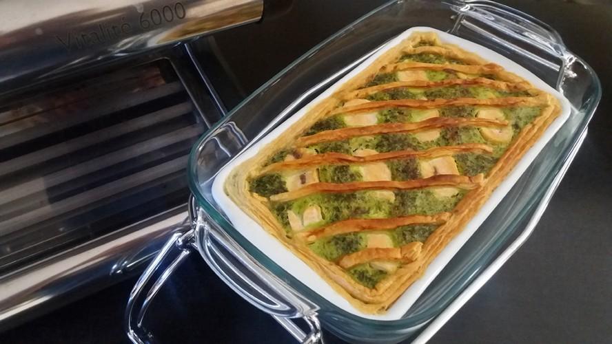 quiche épinard saumon fenouil cuisson vapeur
