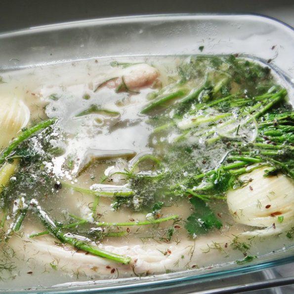 saumonette court bouillon cuisson vapeur