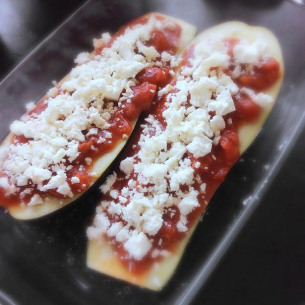 aubergines roties feta cuisson douce