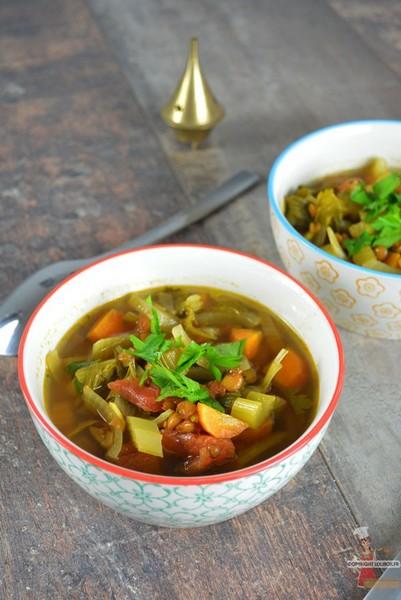 soupe marocaine legumes lentilles