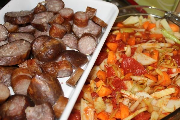 rougail saucisses legumes cuisson douce