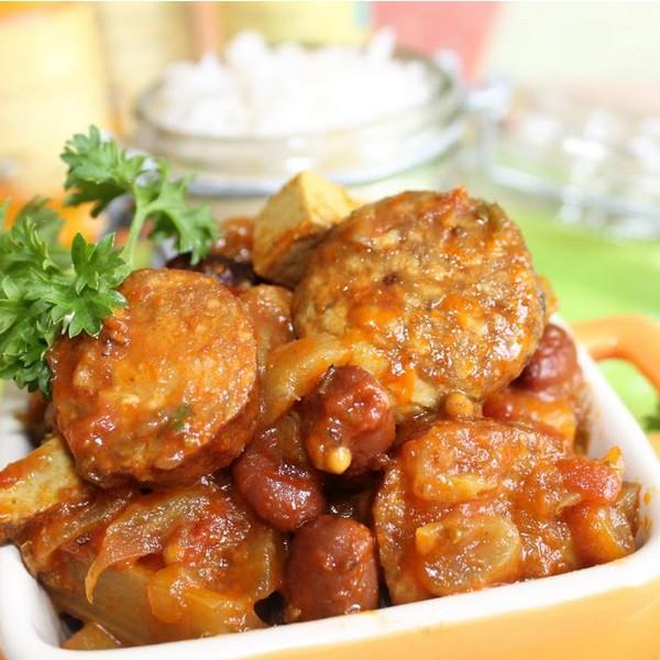 rougail legumes saucisse cuisson vapeur