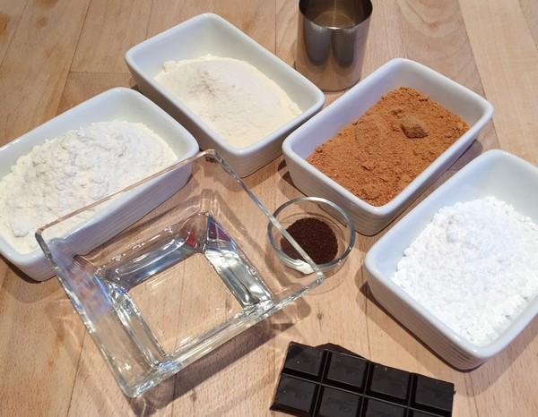 Les ingrédients des sablés cocochoco