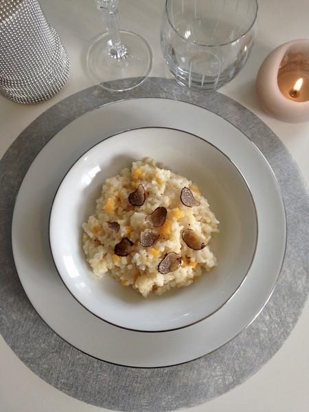 Le risotto végétarien à l'huile de truffe de Noël