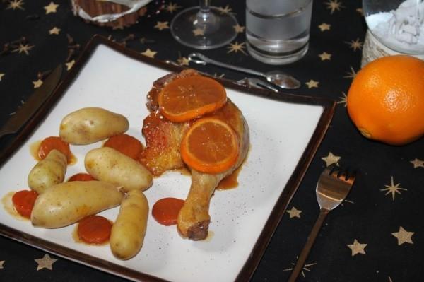 Canard à l'orange et aux épices de Noël à L'Omnicuiseur