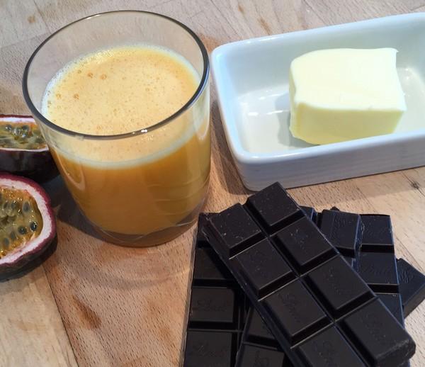 Ingrédients pour la ganache au chocolat