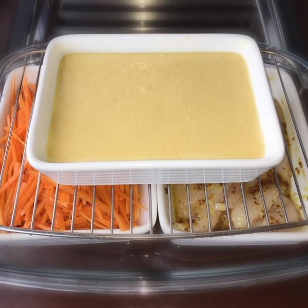 Étape 3 à 5 : placez les plat dans la cocotte et sur la grille