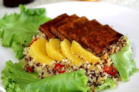Tofu laqué à l'orange cuisson vapeur douce