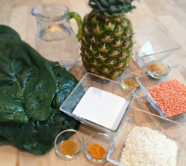 Ingrédients pour al recette du plat combiné à l'Omnicuiseur