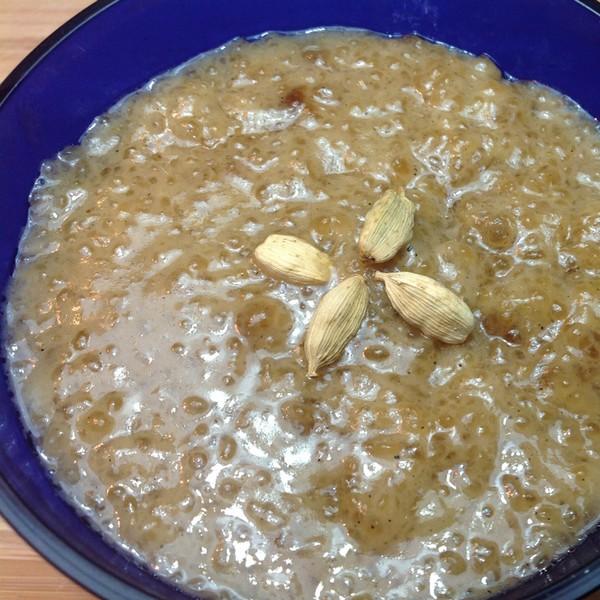 Entremet au tapioca et lait de coco