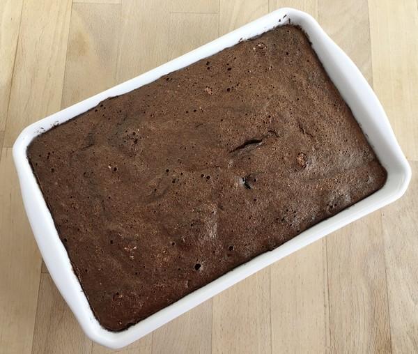 Le gâteau au chocolat après cuisson à L'Omnicuiseur