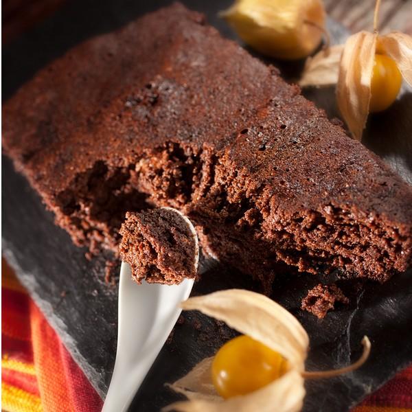 Gâteau au chocolat et tofu soyeux à la vapeur douce