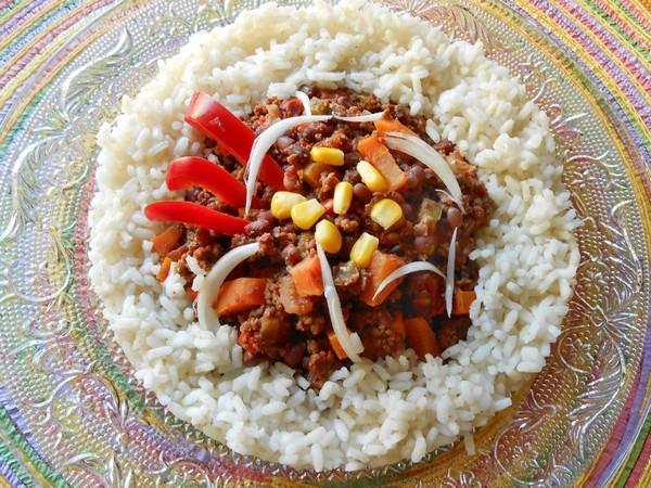 Haricots Azukis façon chili con carne