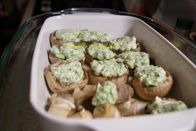 Des champignons farcis sans gluten à L'Omnicuiseur Vitalité