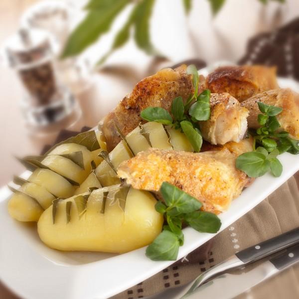 Recette pommes de terre farcies aux champignons magazine omnicuiseur - Idee recette cuisse de poulet ...