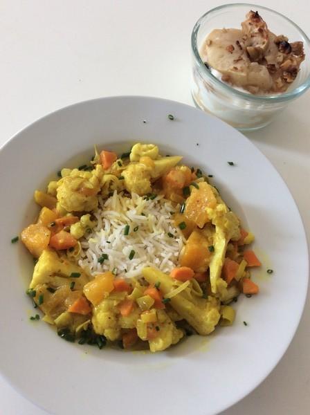Le curry de chou-fleur à la mangue