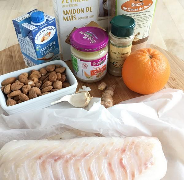 Les ingérdients pour un poisson en croûte
