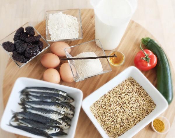 Les ingrédients de la recette à L'Omnicuiseur