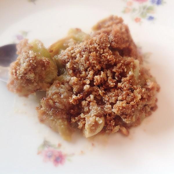 Un crumble sans gluten ni lactose avec une cuisson saine