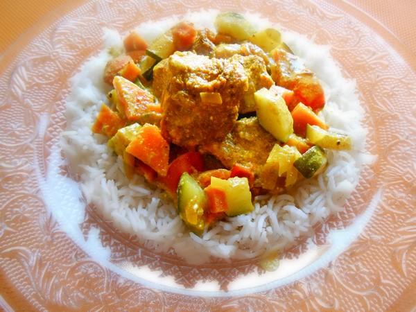 La recette du curry de dinde aux épices à l'Omnicuiseur