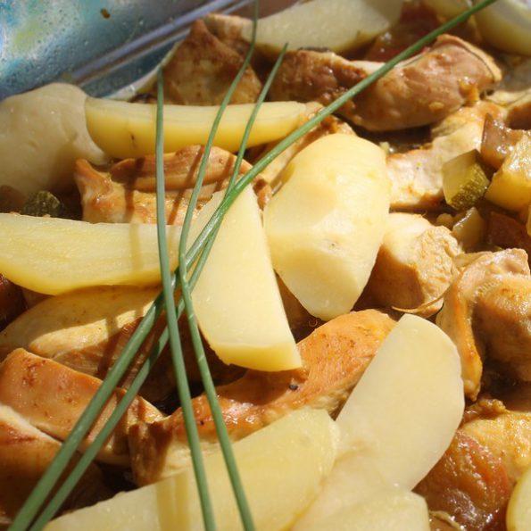 La recette du poulet mariné aux légumes d'été à L'Omnicuiseur