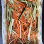 Étape 1 : coupez les légumes en lanières