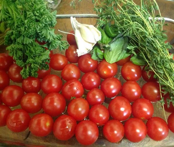 Ingrédients de la recette des tomates à l'Omnicuiseur