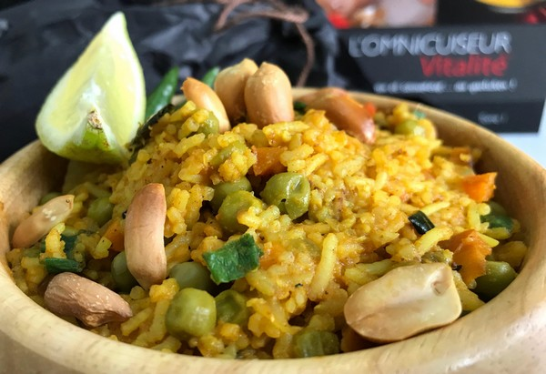 Le riz biryani à L'Omnicuiseur
