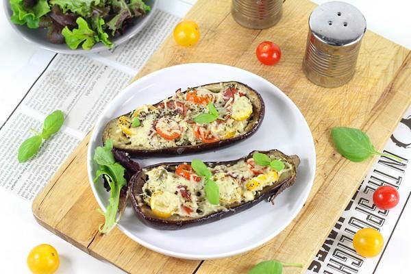 Les aubergines au jambon cru à la cuisson vapeur douce