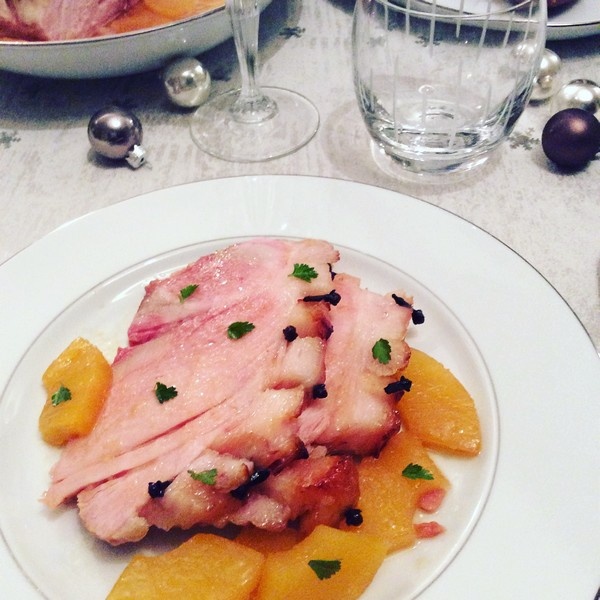 Une belle recette de Noël saine et gourmande le jambon à l'ananas