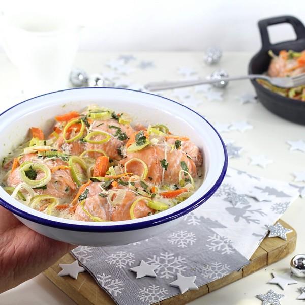 La recette des paupiettes aux 2 saumons pour le menu de Noël