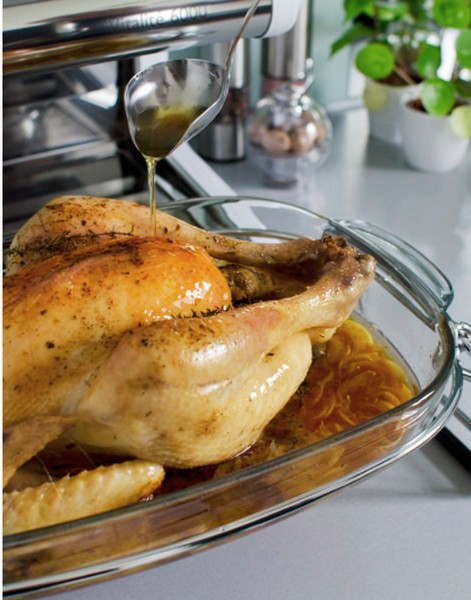 Le poulet rôti cuit à basse température