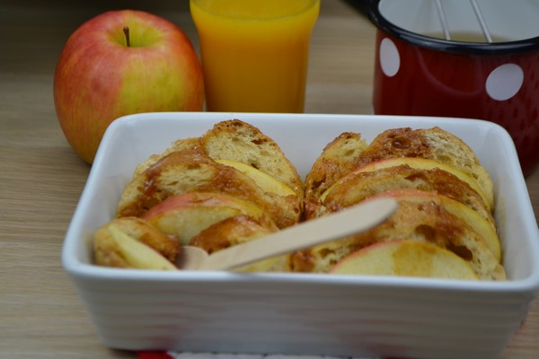 Une recette de pain perdu aux pommes