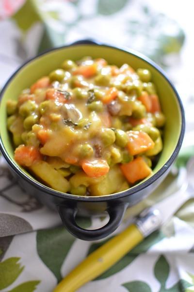 Un plat végétarien à l'omnicuiseur