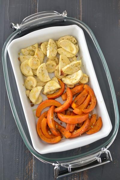 Une recette avec des légumes de saison à l'omnicuiseur