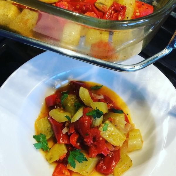 Un ragoût de légumes à la cuisson basse température