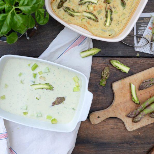 Une recette aux asperges et vegan
