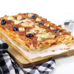 Une pizza moelleuse