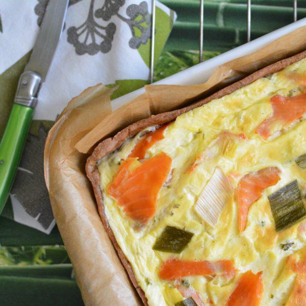 La tarte à la faisselle et au saumon