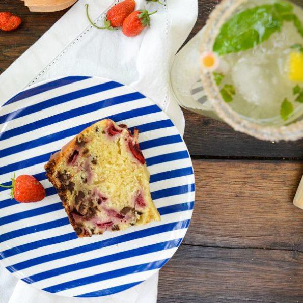 Un cake aux fraises à la vapeur