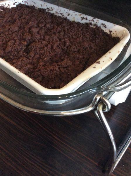 Le crumble poire chocolat, une recette omnicuiseur