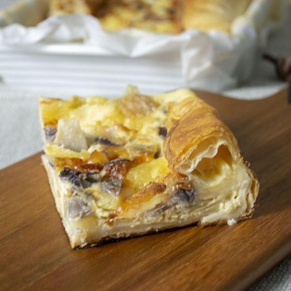 Une tarte au fromage à l'omnicuiseur