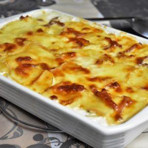 Un gratin de fromage à la vapeur