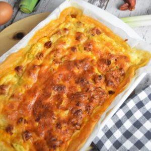 Une tarte poireau-chorizo à la vapeur douce