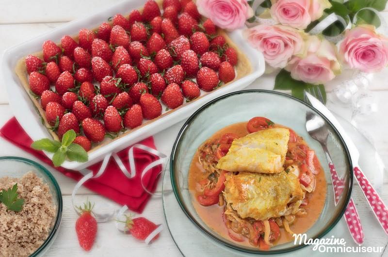 Un plat de poisson et un dessert à l'omnicuiseur