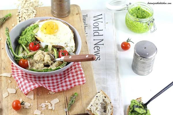 Un porridge salé à la vapeur